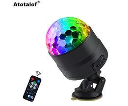 Atotalof USB barre de LED éclairage de scène RGB Mini Disco boule lumière son activé DJ projecteur lumières de fête pour voiture maison KTV