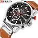Nouvelles montres hommes de luxeCURREN chronographe hommes montres de Sport de hautebracelet en cuir montre-bracelet à Quartz Relogio Masculino
