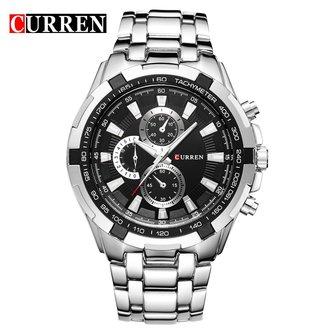 CURREN montres hommes Topde luxedécontracté Quartz montres hommes classique analogique sport acier bande horloge Relojes