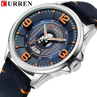 Montres hommes TopCURREN montre-bracelet en cuir analogique armée militaire Quartz temps homme étanche horlogeRelojes Hombre