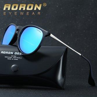 AORONlunettes de soleil femmes hommes lunettes de soleil polarisées classique miroir rond UV400 lunettes de soleil lunettes