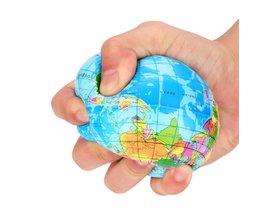 76mm spongieux Mini terre soulagement du Stress carte du monde boule de mousse Atlas Globe paume balle planète terre boule lente montée Squish ou enfants