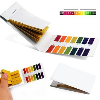 80 bandelettes/paquet de bandelettes de test de pH contrôleur de PH complet 1-14st indicateur Kit de savon à l'eau de papier de Litmus