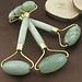 Jade pierre rouleau masseur soins de la peau du visage outils Nature sain visage corps tête cou pied beauté lifting outils visage rouleau
