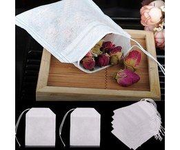 HIFUAR 100 pièces sachets de thé pour infuseur de sachets de thé avec chaîne guérir joint 5.5x7 CM Sachet filtre papier sachets de thé vides