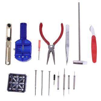 16 pièces montre outils réparation outil Kit horloge outils montres ouvreur Bracelet réparation ensemble bande sangle lien broche dissolvant pasadores reloj