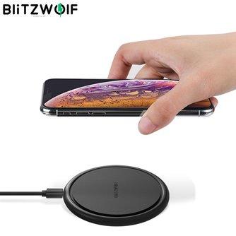 BlitzWolf Qi 10W 7.5W 5W chargeur universel sans fil à charge rapide 9V pour iPhone 8 Plus X XS MAX pour Samsung Note 9 S9 pour Huawei