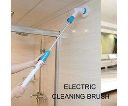 Nettoyeur électrique de salle de bains rechargeable sans fil de brosse de nettoyage de gommage de Turbo d'épurateur de rotation avec la poignée d'extension baignoire adaptative de brosse