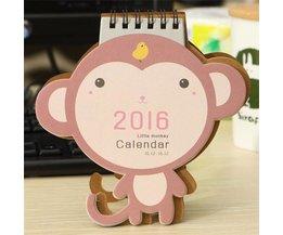 2016 Calendrier Avec Cute Monkey