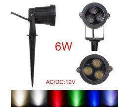 6W LED Spot On Pied Pour Extérieur