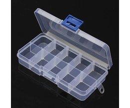 Boîte De Rangement Avec 10 Compartiments Transparents