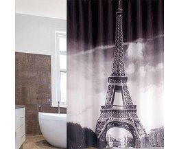 Tour Eiffel Rideau 180X180Cm Avec 12 Crochets