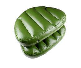 Siège Gonflable Dans Le Vert Couleur
