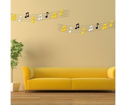 Music Notes 3D Wall Sticker Acrylique 2 Pieces