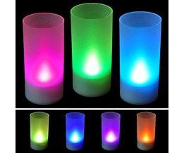 Bougie LED Avec Des Couleurs Différentes