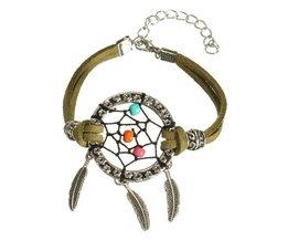 Retro Bracelet Avec Dreamcatcher