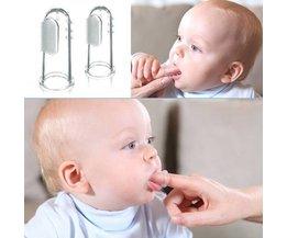 Doux Brosse À Dents De Doigt Pour Les Nourrissons 2 Pack
