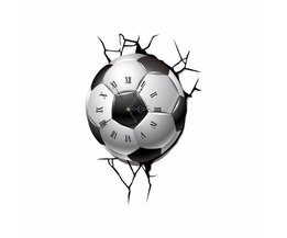 Football Clock Sur Wall Decal
