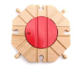 Bois Turntable Junction Pour Toy Train
