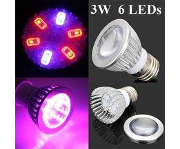E27 LED Grow Light Pour Les Plantes 3W