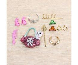 Pop Shoe Bag Accessoires Collier Boucle D'Oreille Couronne