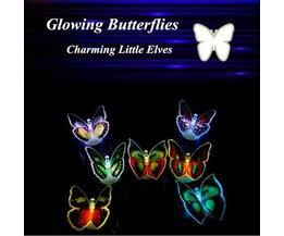 Changement De Papillon De Nuit Pour Enfants Couleur De La Lumière LED