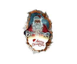 Noël Stickers Muraux Avec Le Père Noël