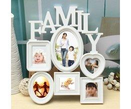 Blanc Famille Multi Cadre