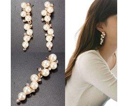Magnifique Perle Boucles D'Oreilles Longues
