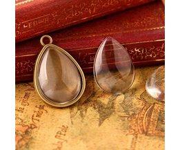 Glass Pendants Sous La Forme D'Une Baisse De 10 Pièces