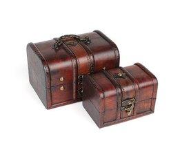 Bijoux En Bois Box Vintage