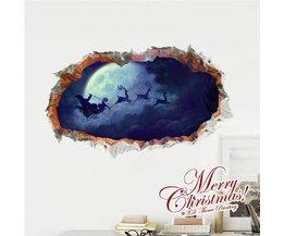 Beau 3D Stickers Muraux Avec Le Père Noël 948 X 580Mm