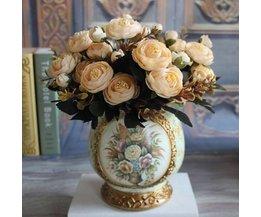 Magnifiquement Coloré Bouquet Soie Fleurs Artificielles