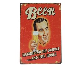 """Étain Plaques """"Bière"""""""