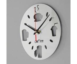 Horloge Moderne Mur Argent Acrylique