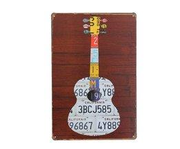 Décoration Murale Plate Guitare