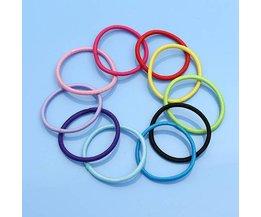 Cheveux Colorés Elastics (10 Pieces)