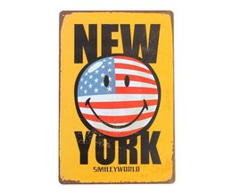 New York Posters Métal