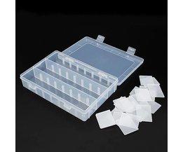 Boîte De Rangement En Plastique Avec 24 Compartiments