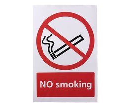 No Smoking Autocollant 100X150 Mm