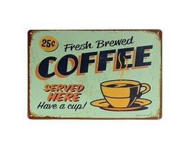 Plate Décoration Vintage Café