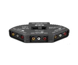 3 Splitter Way Audio Video Box