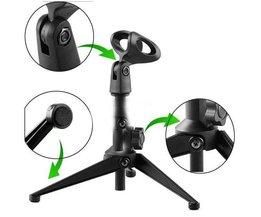 Réglable Table Microphone Pied Avec Clip Holder