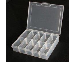 Stockage Plastic Box 10 Compartments