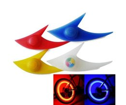 Roue De Bicyclette Éclairage LED Shark Shape