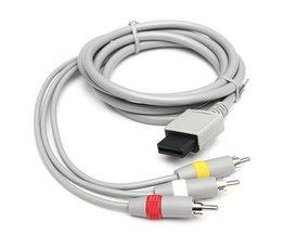 Câble AV 1.8M Pour Nintendo Wii