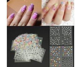 Nail Art Stickers Colorful Conseils Avec Flower Design