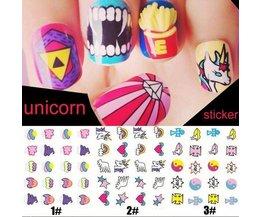 Nail Stickers Art Avec Différents Motifs