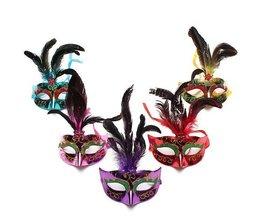 Masque Vénitien Avec Des Plumes