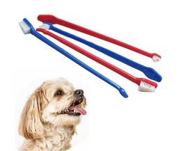 Chien De Nettoyage Denture Toothbrush Sided